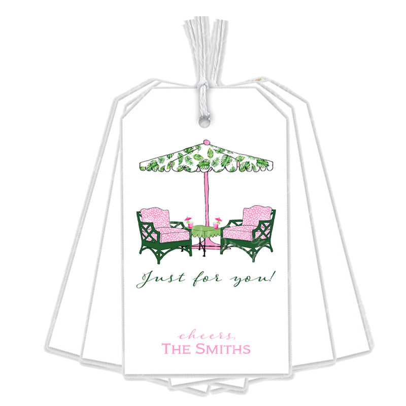Cocktails Pink and Green Gift Tags
