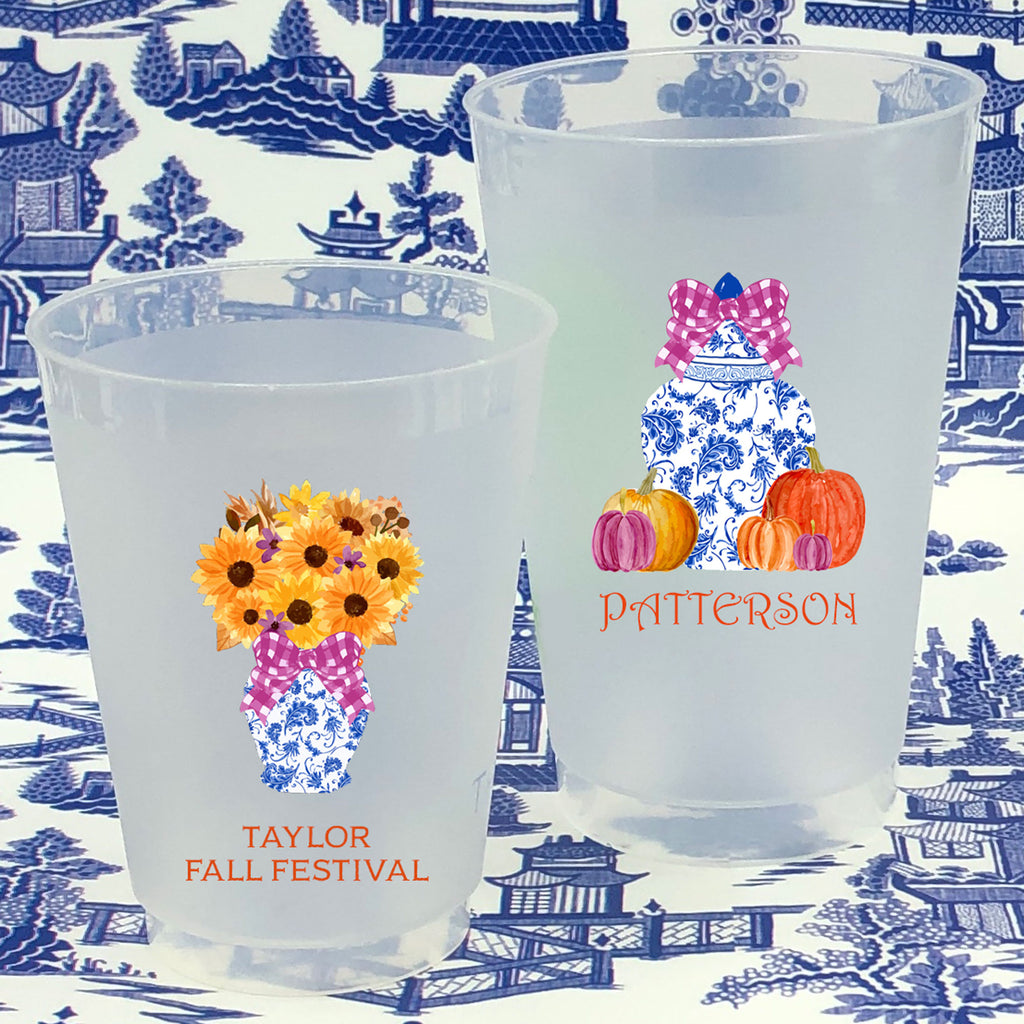 Designs by Initial Offerings Full Color Shatterproof Frost Cups - Fall Festivities