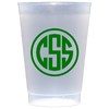 Monogram All Occasions Shatterproof Frost Cups - 9 Sizes