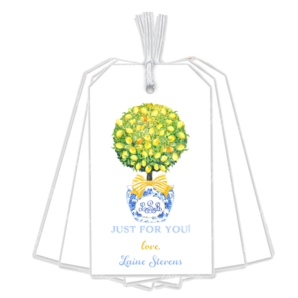 Topiary with Lemons Gift Tags