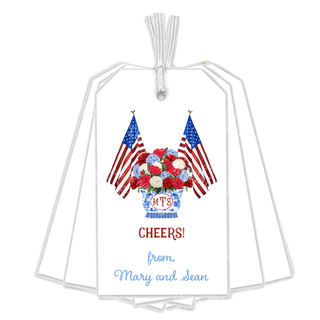 Patriotic Bouquet Gift Tags