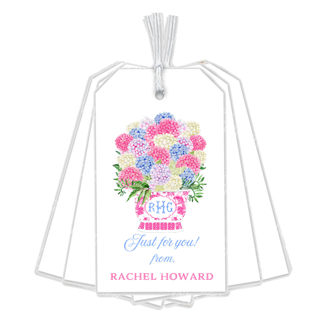 Bouquet Pink Hydrangeas Gift Tags