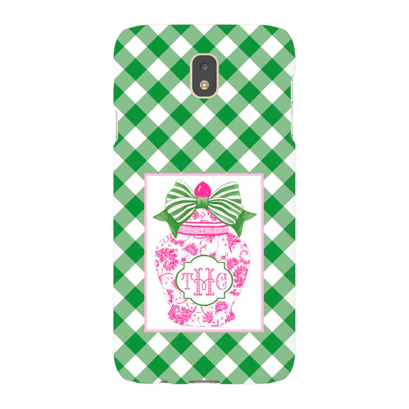 Ginger Jar Pink with Green Bow Phone Case | iPhone | Samsung | Galaxy | LGG | Google Pixel