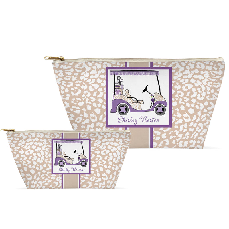 Lavender and Khaki Golf Cart T-Bottom Accessory Cases
