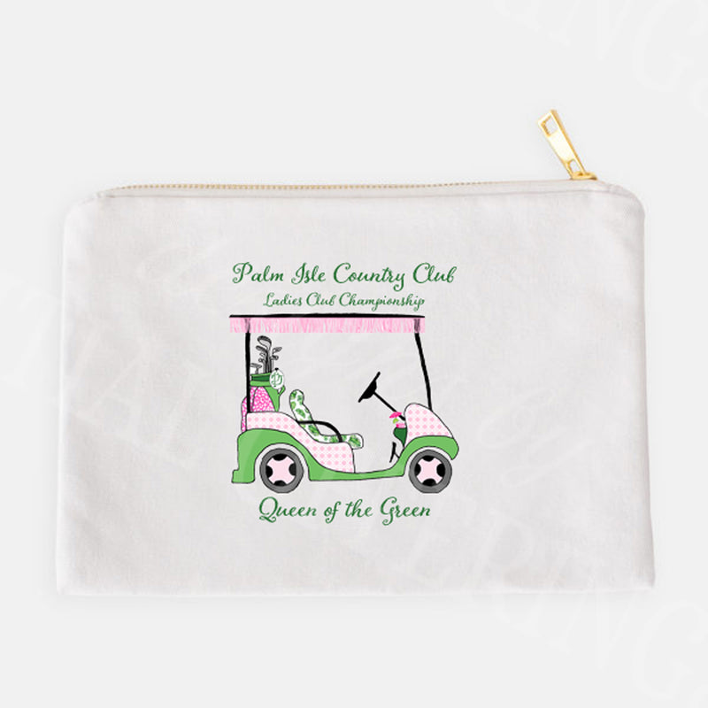 Golf Cart Pink and Green Accessory Case