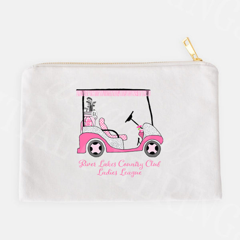 Golf Cart Hot Pink and Grey Accessory Case