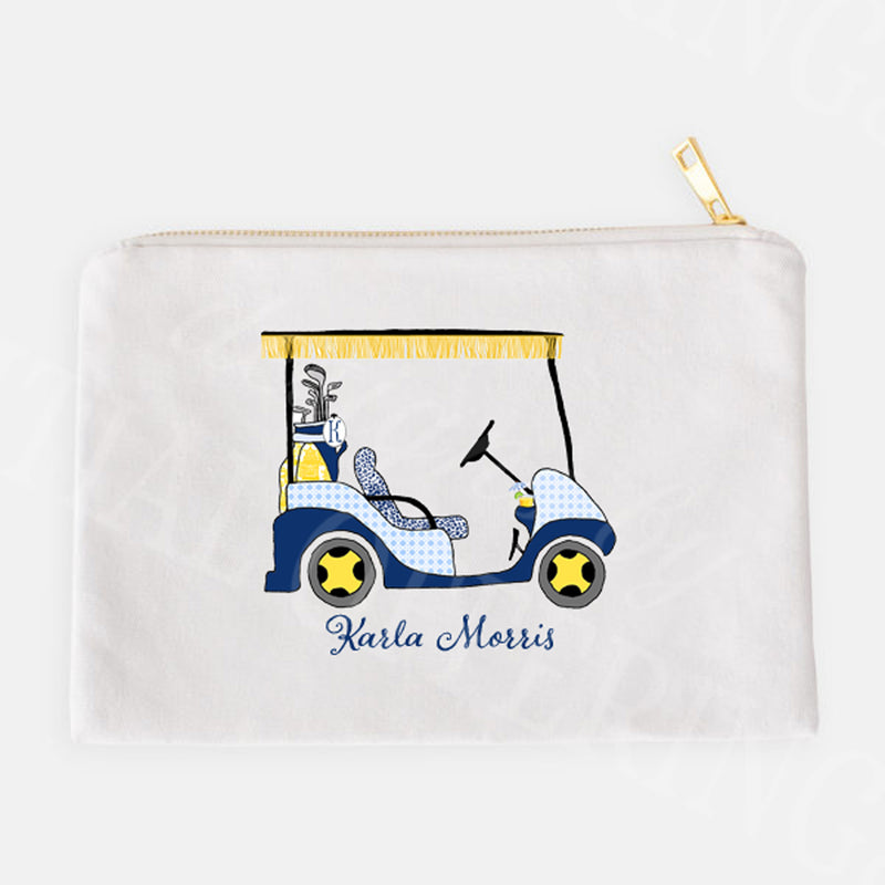 Golf Cart Navy and Yellow Accessory Case