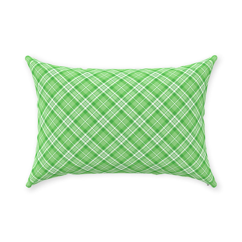 Red and Green Plaid Woody Wagon Pillow