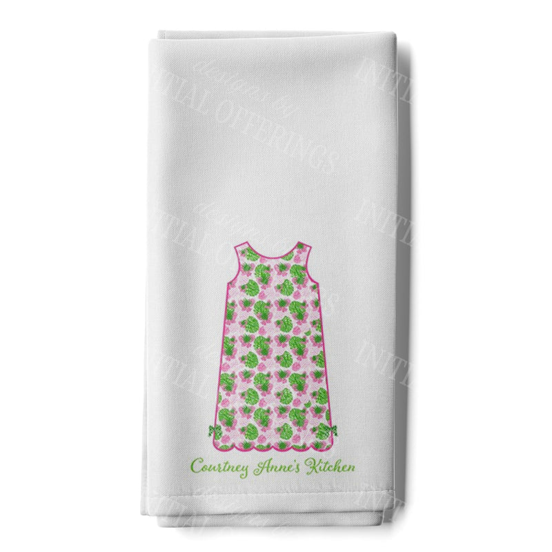 Pink Pineapple Print Shift Dress Hand Towel
