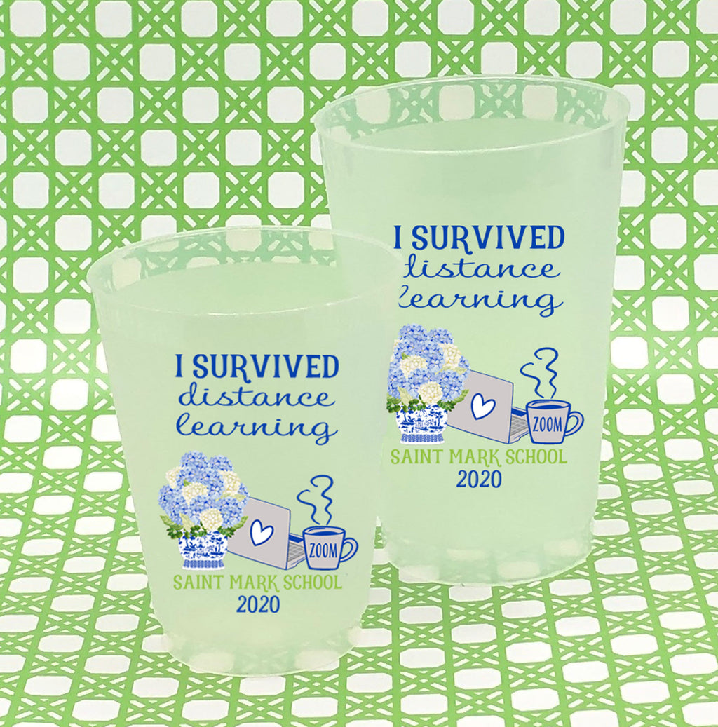 Designs by Initial Offerings Full Color Shatterproof Frost Cups - I Survived Distance Learning
