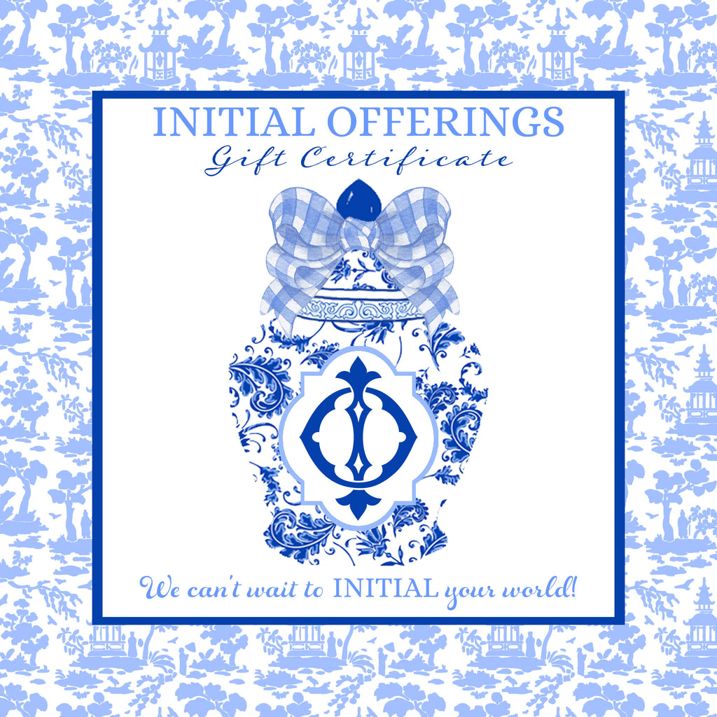 Initial Offerings E-Gift Card | Gift Certificate
