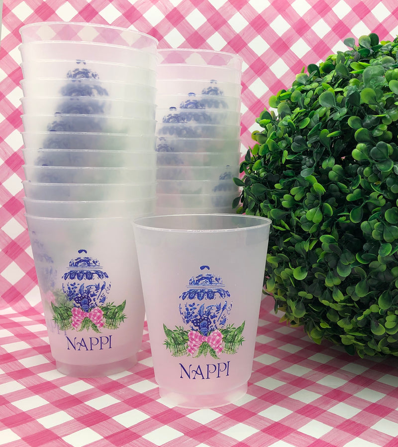 Designs by Initial Offerings Full Color Shatterproof Frost Cups