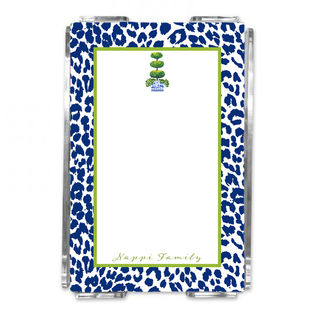 Triple Topiary Loose Note Sheets in Acrylic Holder