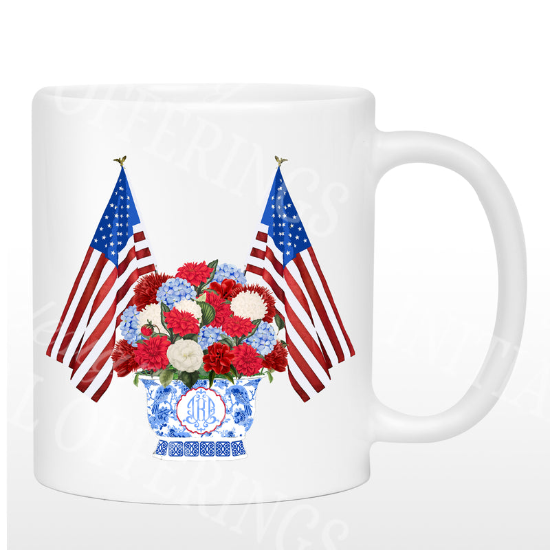 Patriotic Bouquet Mug