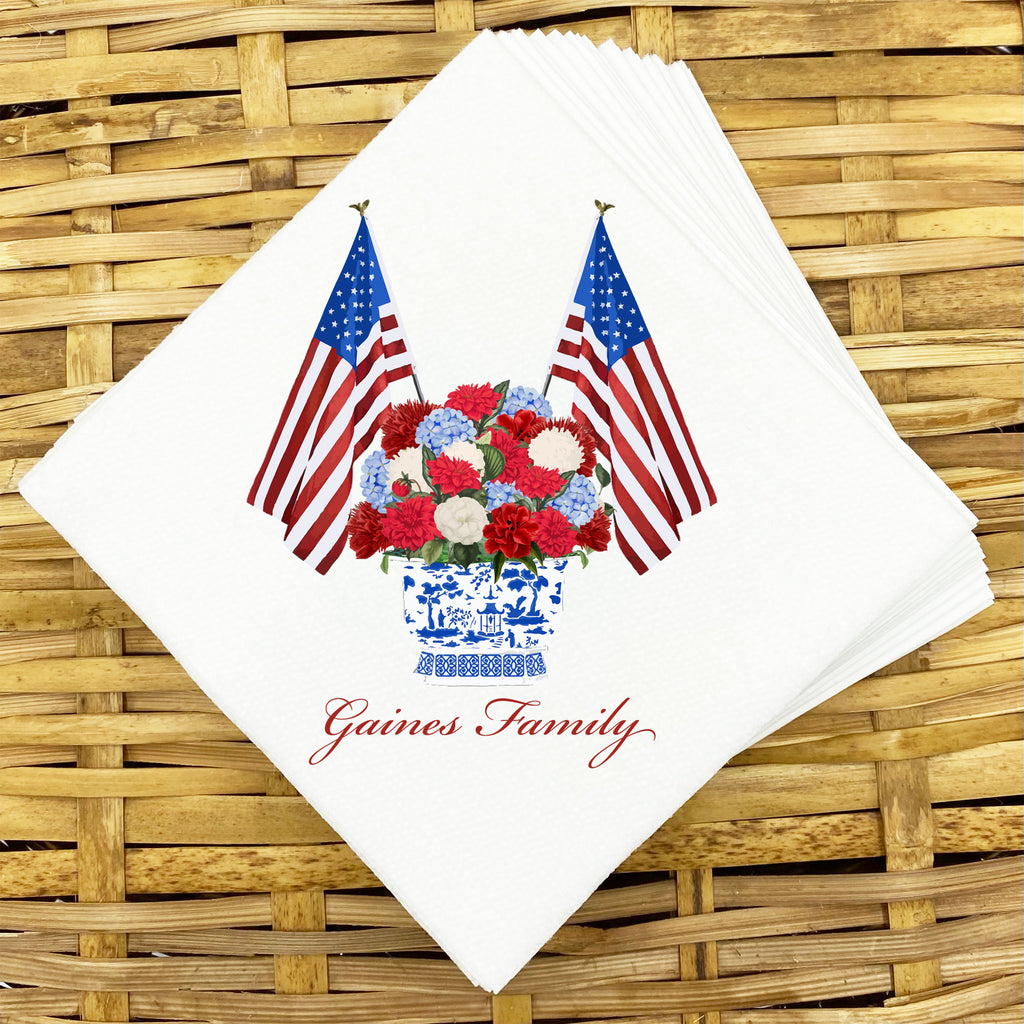 Patriotic Bouquet Napkins and Guest Towels