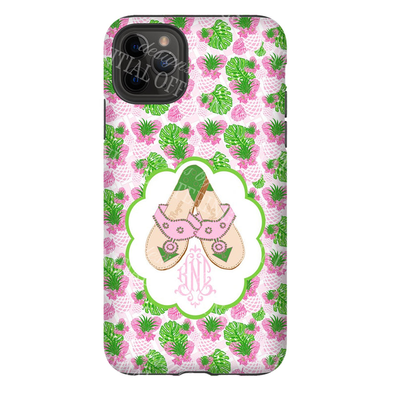 Pink and Green Jacks Glossy Tough Phone Case | iPhone | Samsung | Galaxy | LGG | Google Pixel