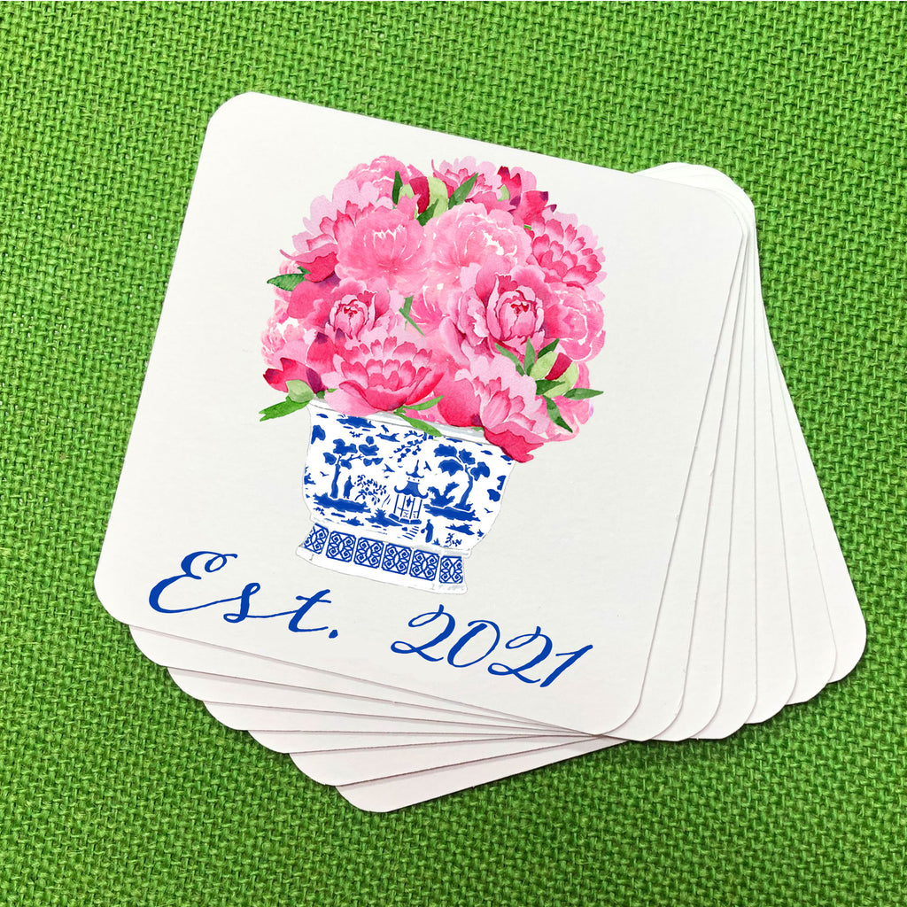 Pink Bouquet Coasters