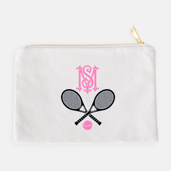 Tennis Racquets Black and Pink Accessory Case