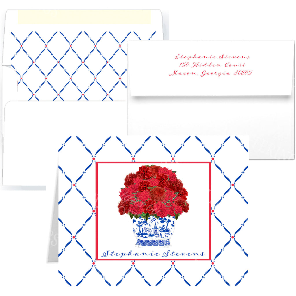 Red Bouquet Notecards