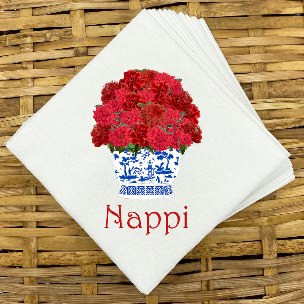 Red Bouquet Napkins and Guest Towels