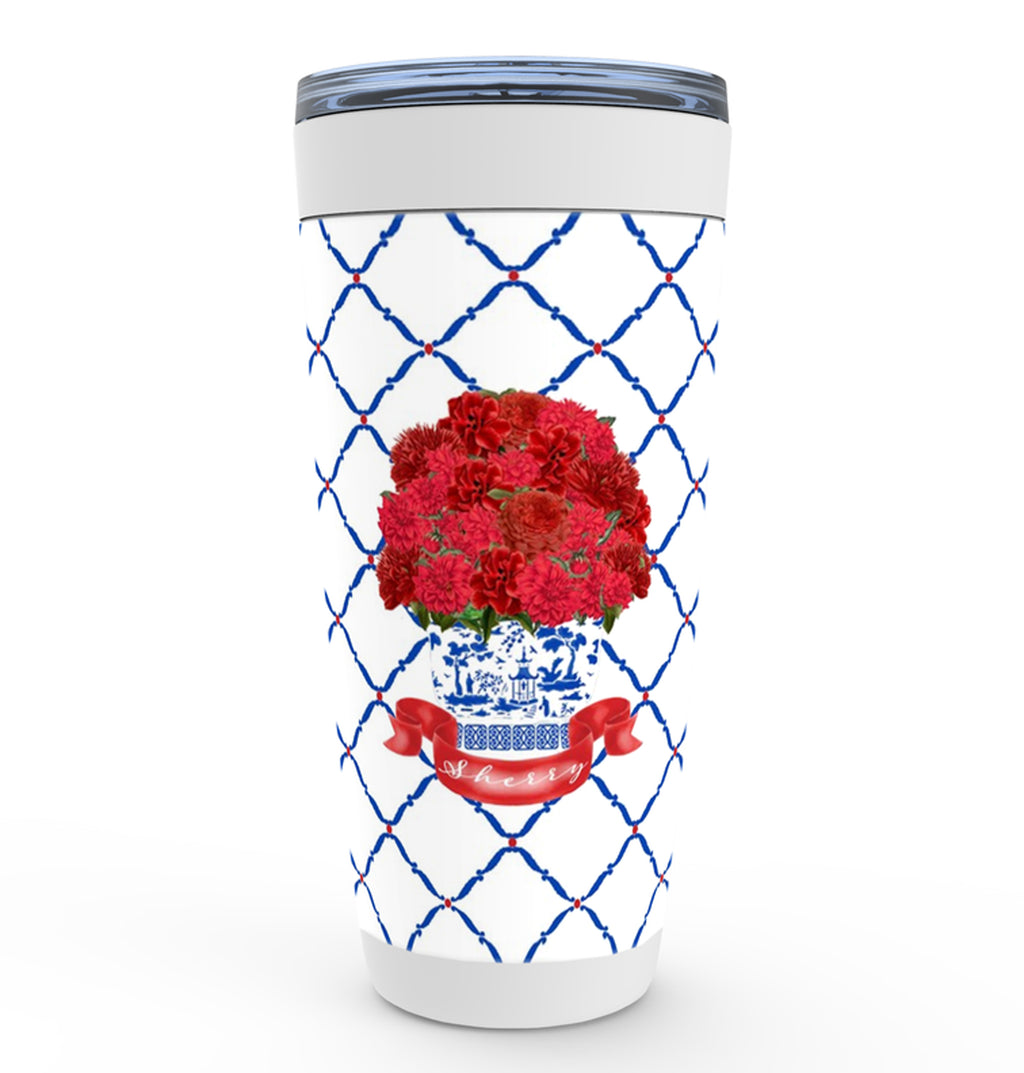 Red Bouquet Viking Tumbler