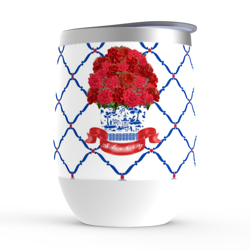 Red Bouquet Stemless Insulated Tumbler