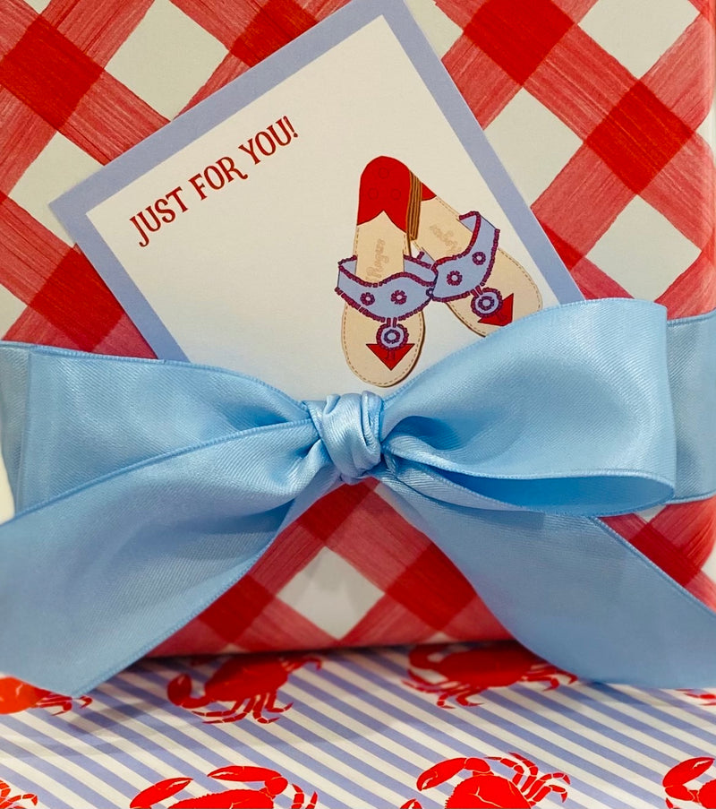 Red and Blue Jacks Gift Enclosure Card
