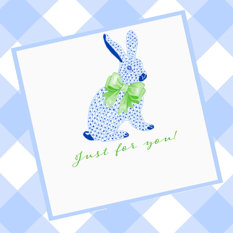 Blue Bunny Gift Enclosure Card