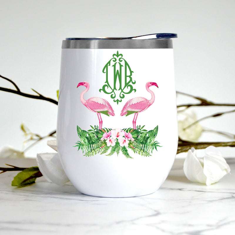 Flamingos Stemless Insulated Tumbler