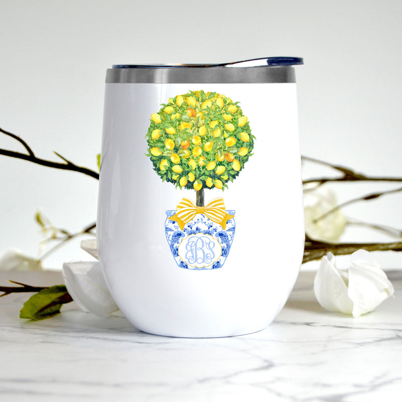 Topiary with Lemons Stemless Insulated Tumbler