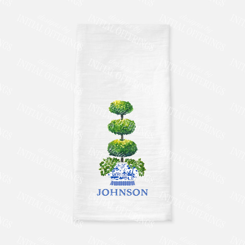 Triple Topiary Tea Towel