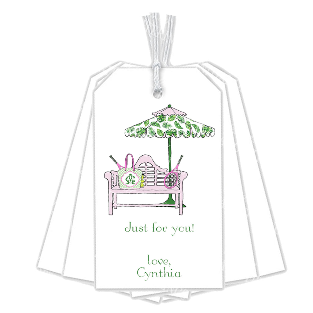 Court Side Pink and Green Gift Tags