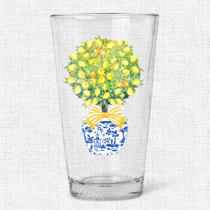 Topiary with Lemons Glasses