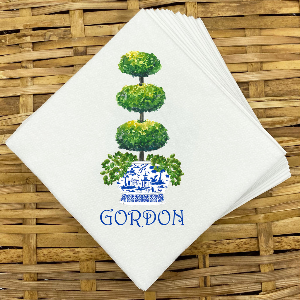 Triple Topiary Napkins and Guest Towels