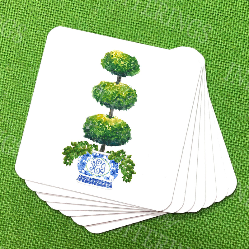 Triple Topiary Coasters