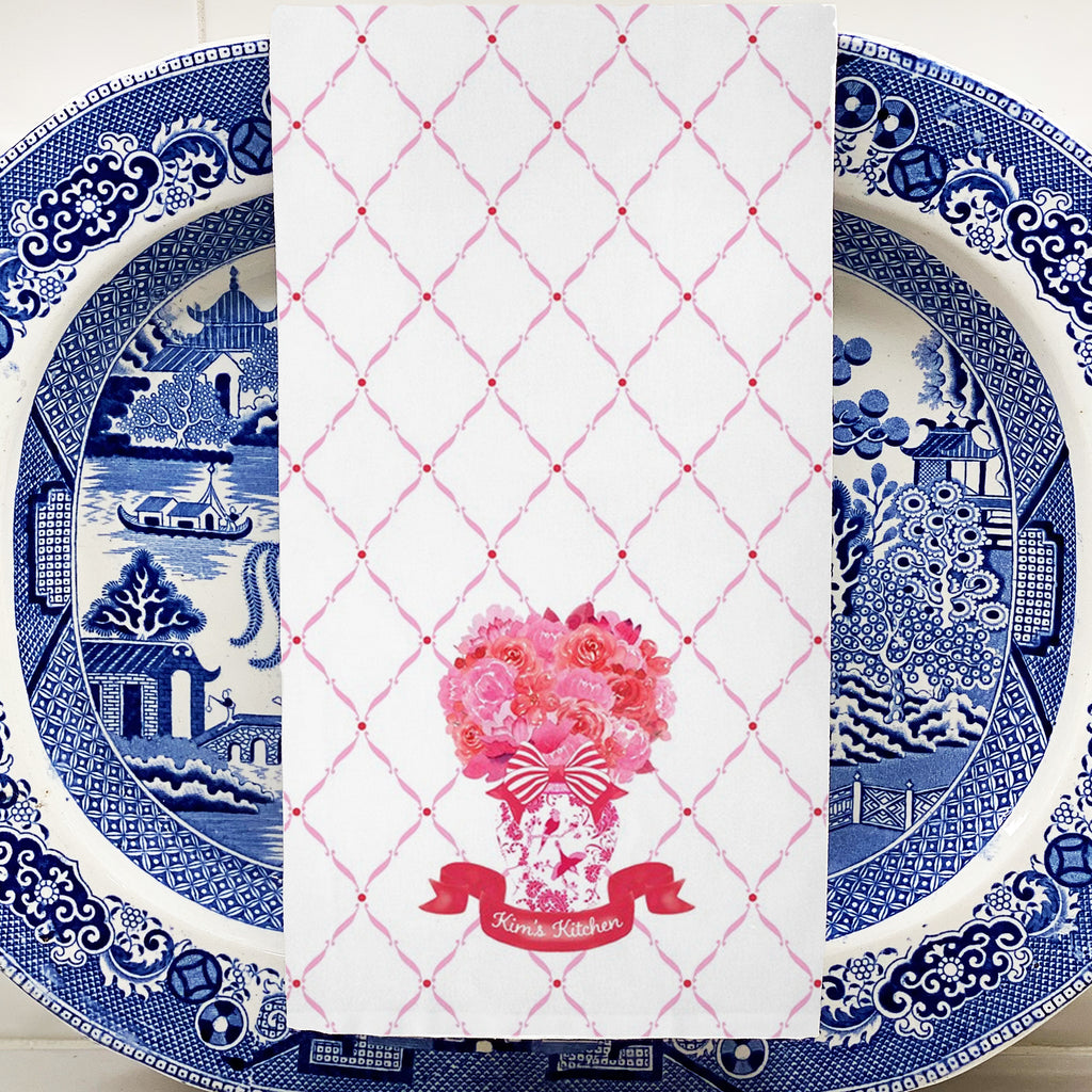 Pink and Red Bouquet Trellis Coasters
