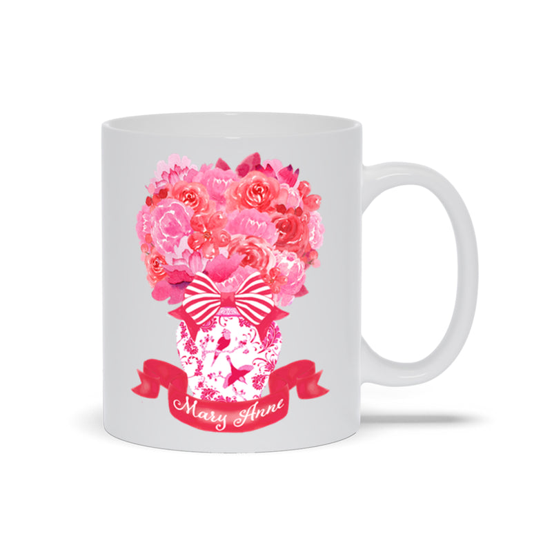 Pink and Red Bouquet Mug