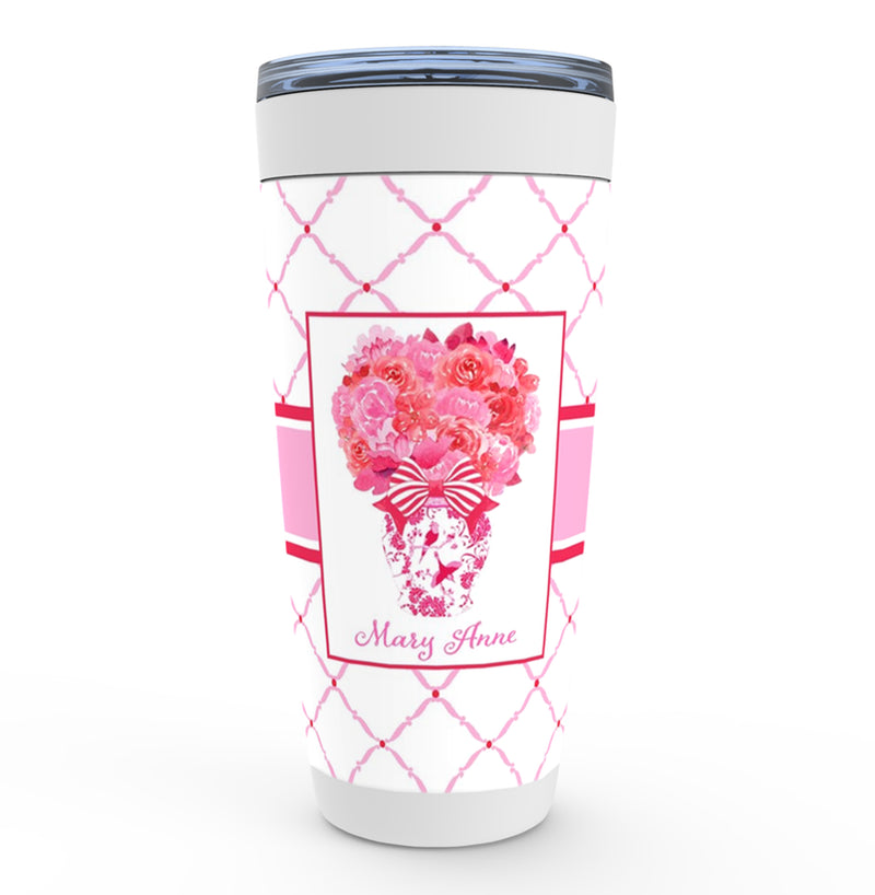 Pink and Red Bouquet Viking Tumbler