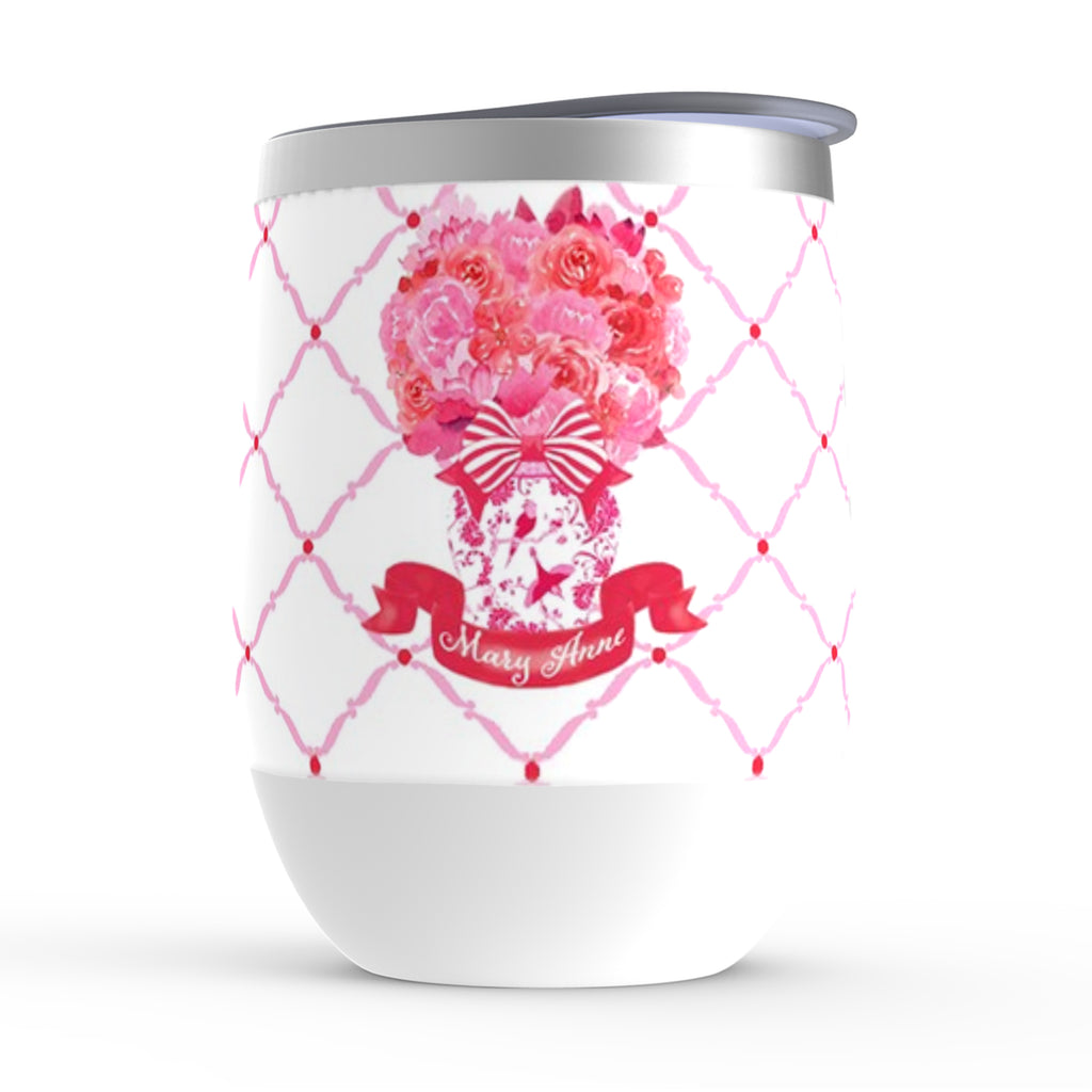 Pink and Red Bouquet Stemless Insulated Tumbler