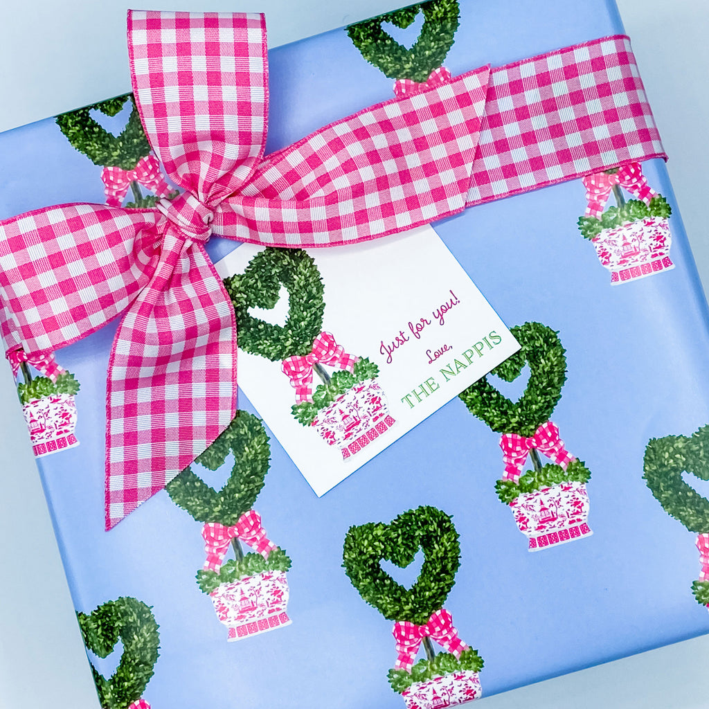 Heart Topiary Gift Wrap Paper
