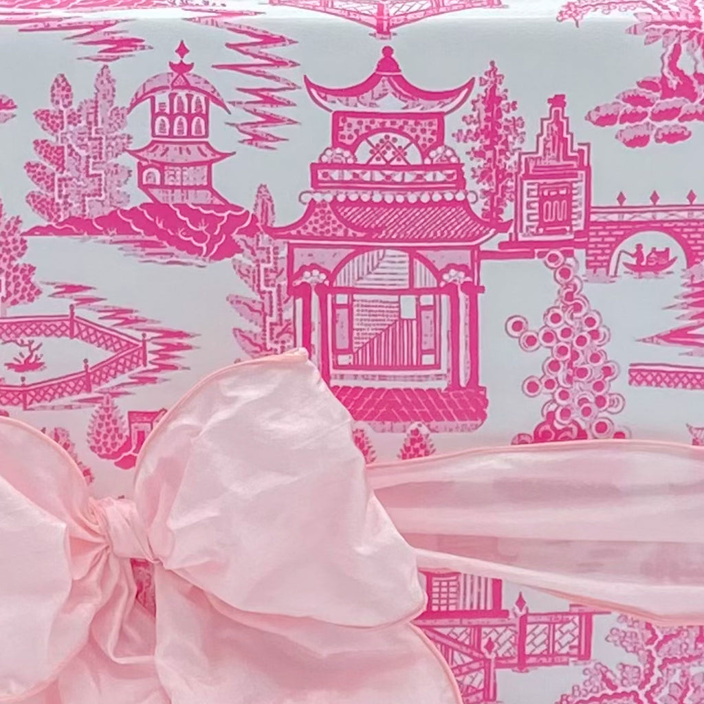 Pagoda Chinoiserie in Pink Gift Wrap Paper