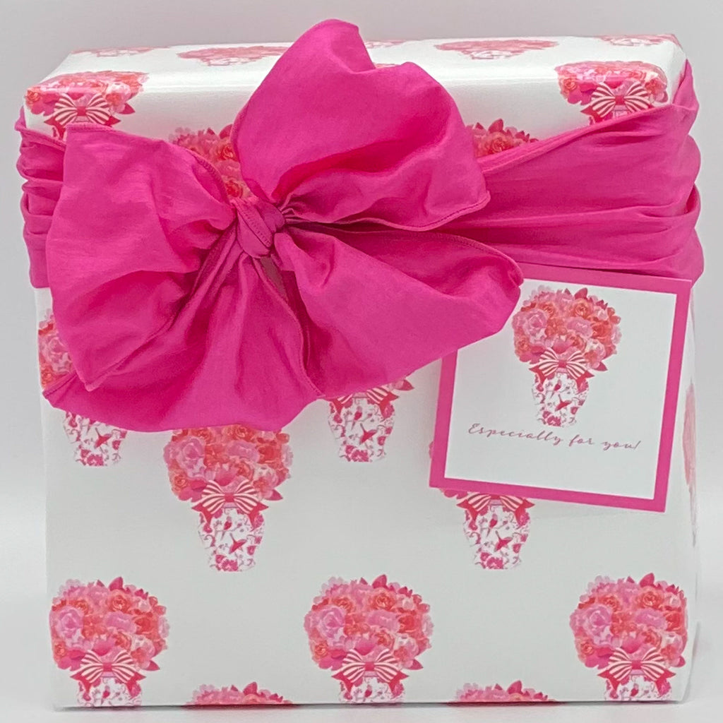 Pink and Red Bouquet Gift Wrap Paper