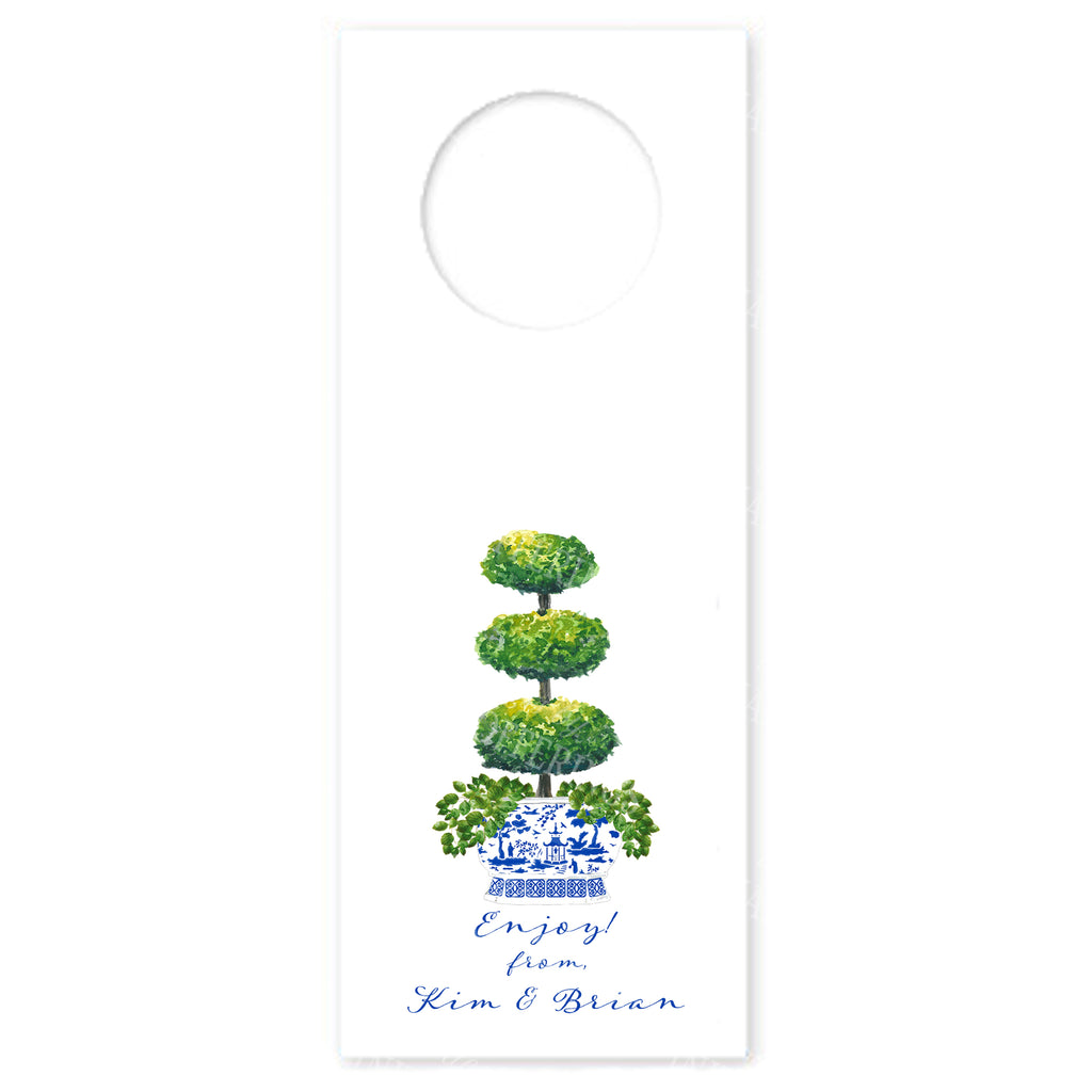Triple Topiary Wine Bottle Tags