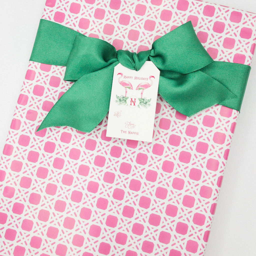 Wicker in Pink Gift Wrap Paper