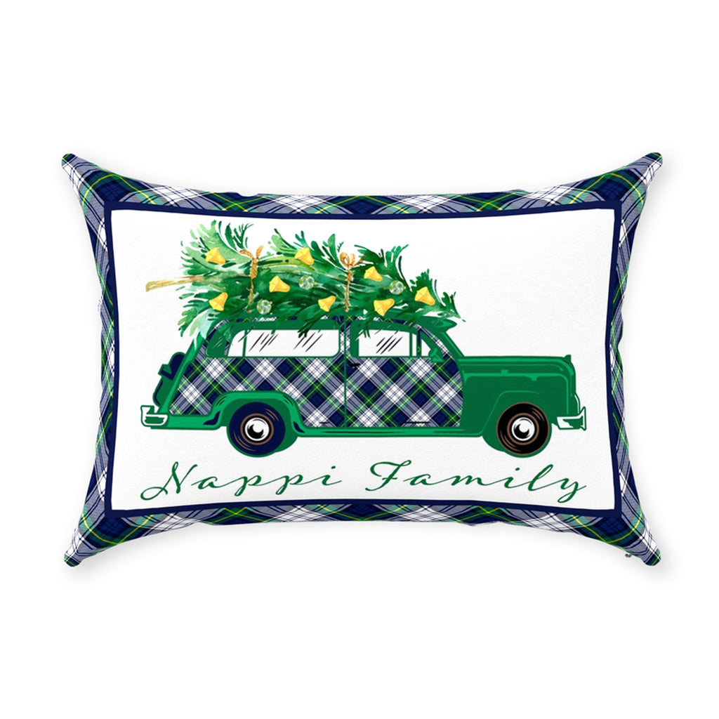 Dress Gordon Tartan Plaid Woody Wagon Pillow