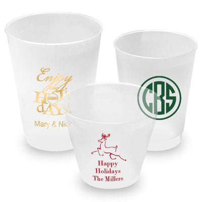 Personalized  Celebrations Shatterproof Frost Cups - 9 Sizes