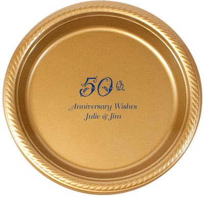 Personalized Celebration Party Plates | Appetizer Dessert Plates | Dinner Plates - 20 Colors!