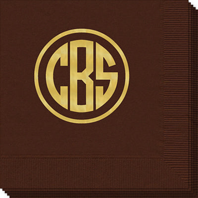 Monogram Cocktail Napkins | Luncheon Napkins | Dinner Napkins | Guest Towels - 25 Colors!