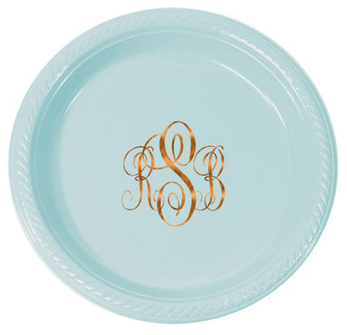 Monogram Party Plates | Appetizer Dessert Plates | Dinner Plates - 20 Colors!