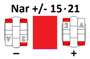Narrow Universal +/- 15-21 (Pack of 10)